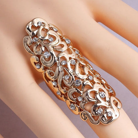 Fine Europeon Design Jewelry Trendy Exaggerated Hollow Carved Design