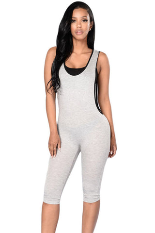 Fitness Deep V Back Her Stylish Gym Sport Romper