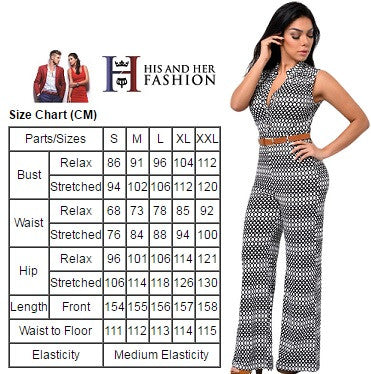 Flattering Circle Design Print Belted Wide Leg Her Chic Jumpsuit