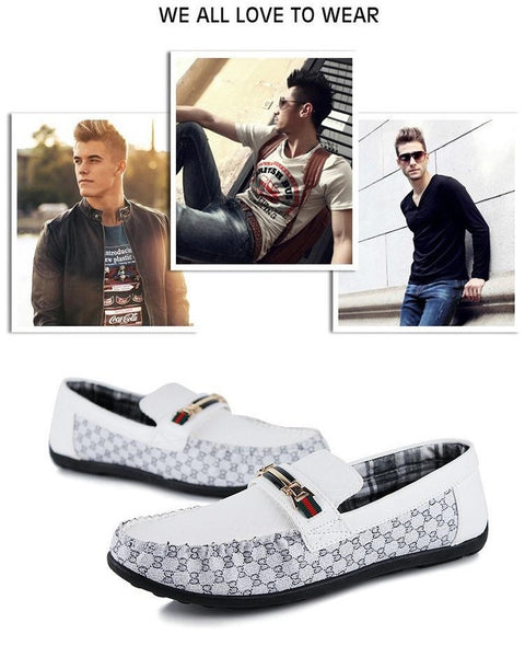 Genuine Leather Mens Gommini Driving Shoes Men's Loafers Casual Shoes