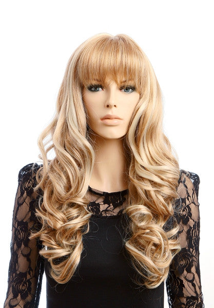 Glamorous Charming Long Blond Wavey Hair Wigs