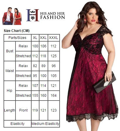 volume large cute cheap check out Glamorous Black Lace PlusSize Her Contemporary Cocktail Dress