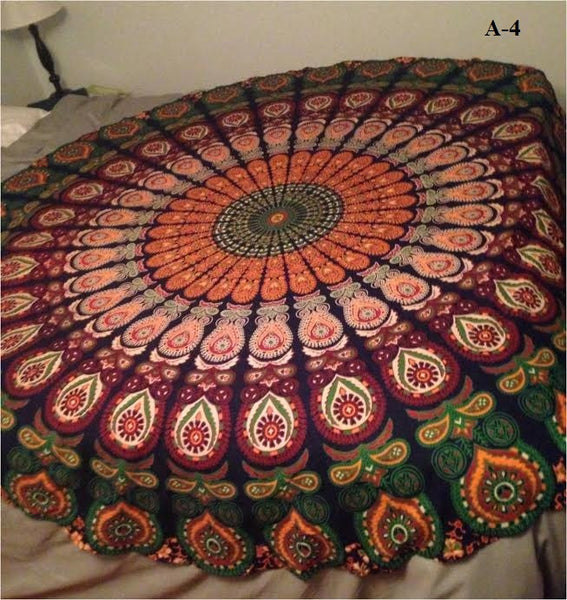Gorgeous Round Geometric Print Pattern Tapestry