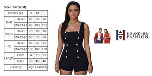 Gold Buttons Signature Series Plus Size Black Romper