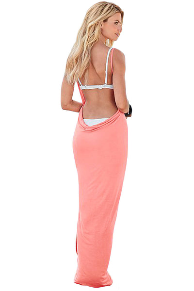 HerFashion Greek Goddess Spaghetti Strap Jasper Modish Sarong Beachwear