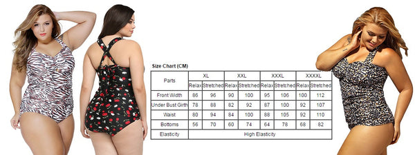 Her BIG'n'BOLD Cheetah Print Plus Size Two Piece Swimsuit