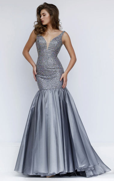 Her Beaded Fit and Flare Gown