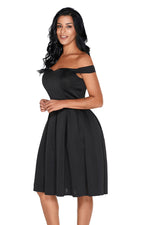 Her Red Foldover Off Shoulder Sweet Fashion Homecoming Dress