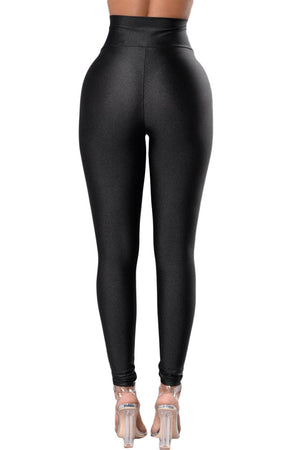 Her Black High Rise Tight Leggings with Waist Cincher Stylish Leggings