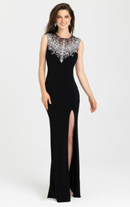 Her Chic Style Beaded Open Back Gown Floor Length Long Gown