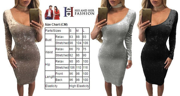 Her Elegant Grey Asymmetric One Sleeve Suede Bodycon Dress