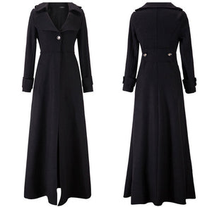 Her Elegant and Electrify Look Single Breasted Woolen Trench Coats