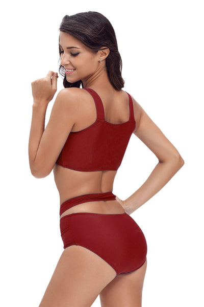Her Fashion Beach Style Scarlet Multiway Strap High Waist Bikini