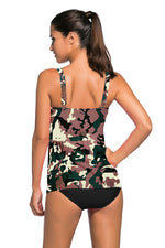 Her Fashion Black 2pcs Swing Trendy Tankini Swimsuit