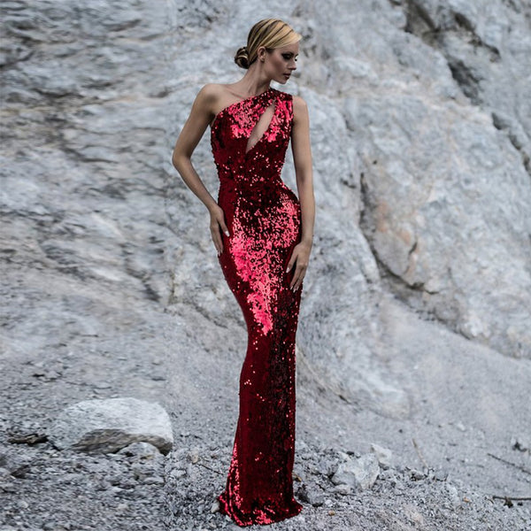 be742a72c7d026 Her Fashion Cut Out Sleeveless Maxi Red Sequins Bodycon Dress –  HisandHerFashion.com