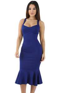 Her Fashion Elegant Blue Mermaid Sweetheart Bodycon Dress