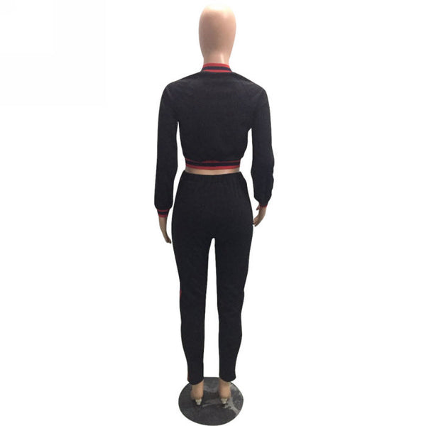 Her Fashion High Waist Long Sleeve Two Pieces Set Women Activewear