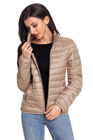 Her Fashion Red High Neck Quilted Cotton Women Jacket