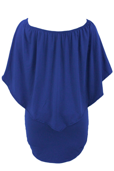 Her Fashion Multiple Dressing Layered Blue Mini Dress