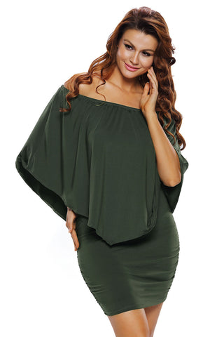 Her Fashion Multiple Dressing Layered Green Mini Dress