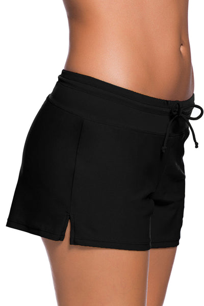 Her Fashion Beach Shorts Black Women Swim Boardshort