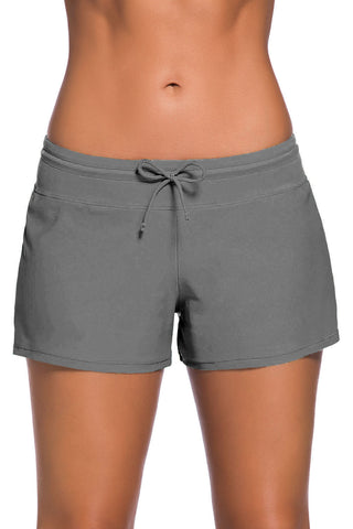 Her Fashion Beach Shorts Grey Women Swim Boardshort
