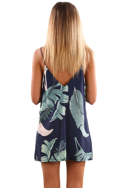 Her Fashion Color Block Geometric Print Short Dress