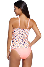 Her Flattering Anchor Print 2pcs Sensational Tankini Swimsuit