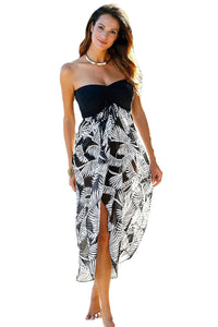 Her Floaty And Chic Black White Printed Gorgeous Beach Dress