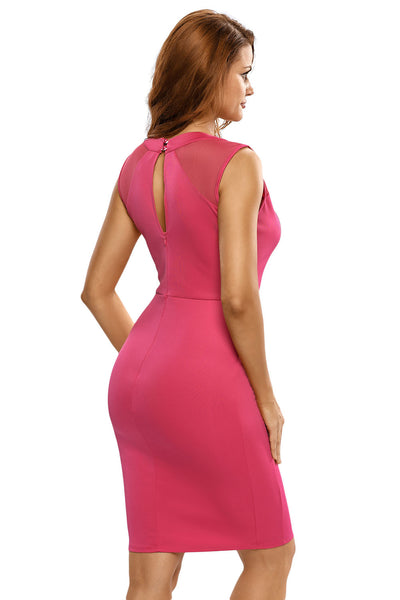 Her Gorgeous Pink Midi Dress with Chain Detail