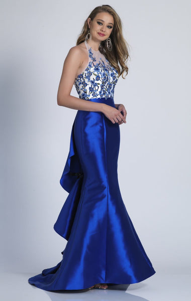 Her Luxurious Ruffled Mermaid Beautiful Long Prom Gown