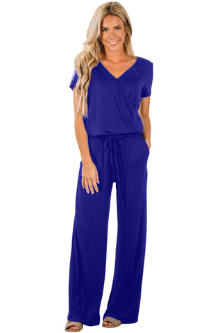 Her Modern Blue Casual Lunch Date Trendy Jumpsuit