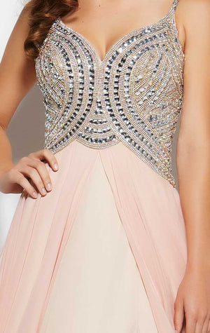 Her Prom Beaded Slit Evening Gown