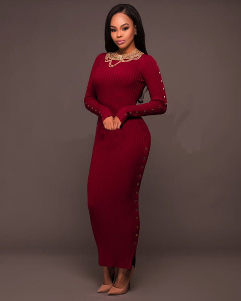 936e38a81f2 Her Ribbed Knit Maxi Dress Maroon Trendsetter Long Sweater Dress –  HisandHerFashion.com