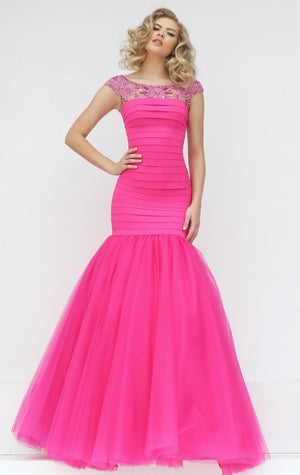 Her Romantic and Chic Highly-Graced Banded Mermaid Evening Gown