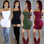 Her Sexy Look Red Women Slip On Trendy Bodycon Mini Dress