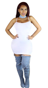 Her Sexy Look White Women Slip On Trendy Bodycon Mini Dress