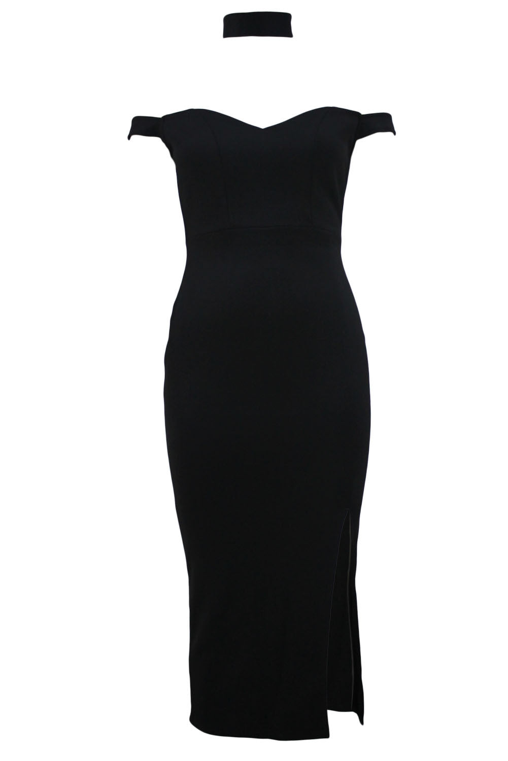 Her Styling Black Luxurious Trendy Long Party Dress with Choker