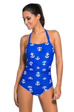 Her Vintage Classic Black Anchor Stunning Teddy Swimsuit