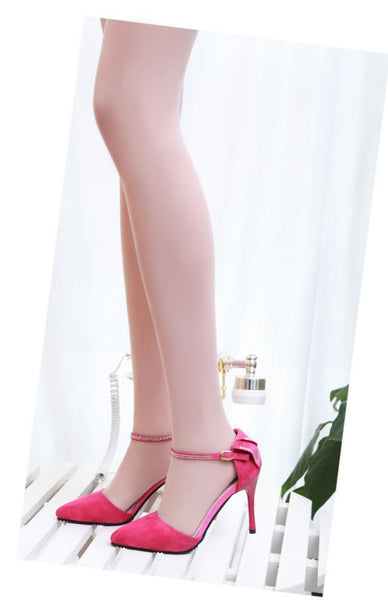High Heels Pointed Toe Pumps Rhinestone Elegant Sandals Dress Shoes