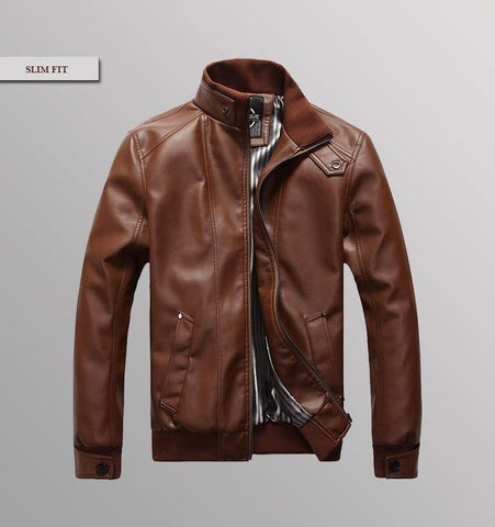 High Quality Fashion Leather Slim Biker Style Jacket