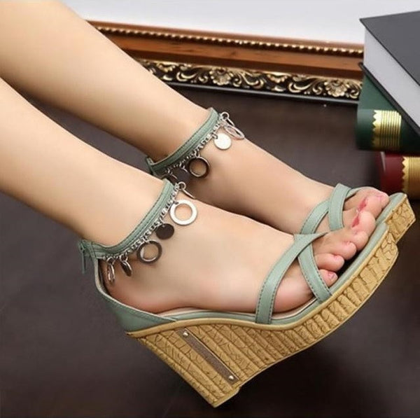 """Chic Series"" Japanese High-Heel / Roman Free Spirit  Waterproof  Sandals"