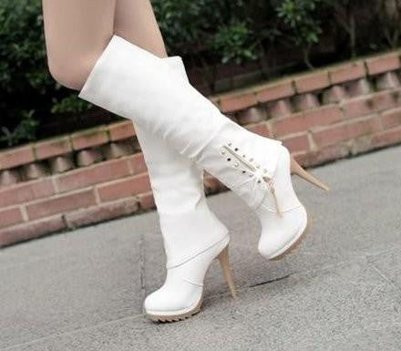 "Knee Boots High Heel Sexy Warm Half Boot ""Trendy Series"""