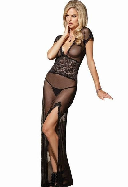 """Impression Series"" Lady Lace Mesh V Neck Underwear Lingerie Elegant Intimate Sleepwear"