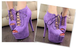 Lady's Suede Sexy Leather  Shoes