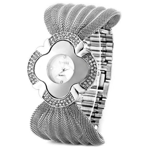 """Luxury Series"" Analog Indicate and Steel Mesh Strap Watchband Quartz Watch for Women"