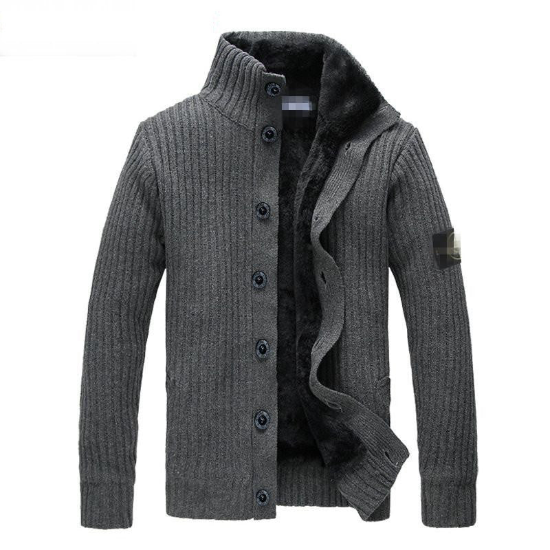 Trendy Outerwear Stone Sweater Mens Jacket