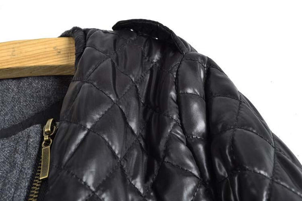 """Mod Series"" Woolen Cloth Quilted Jacket"