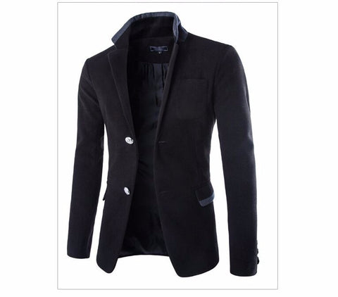 HisandHerFashion Modern Mens Suit Blazer Autumn and Winter Single Brested Suit jacket