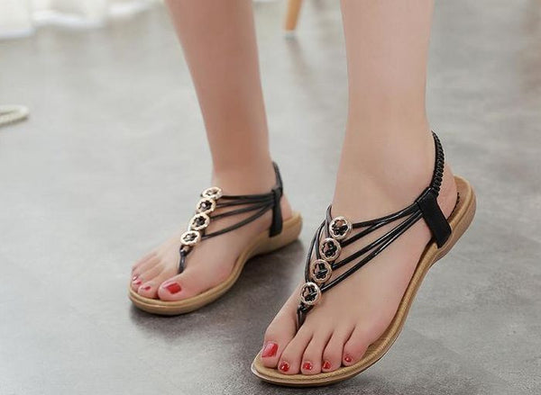 Female Sandals Style Chic – New Flat QCBhdtsxr